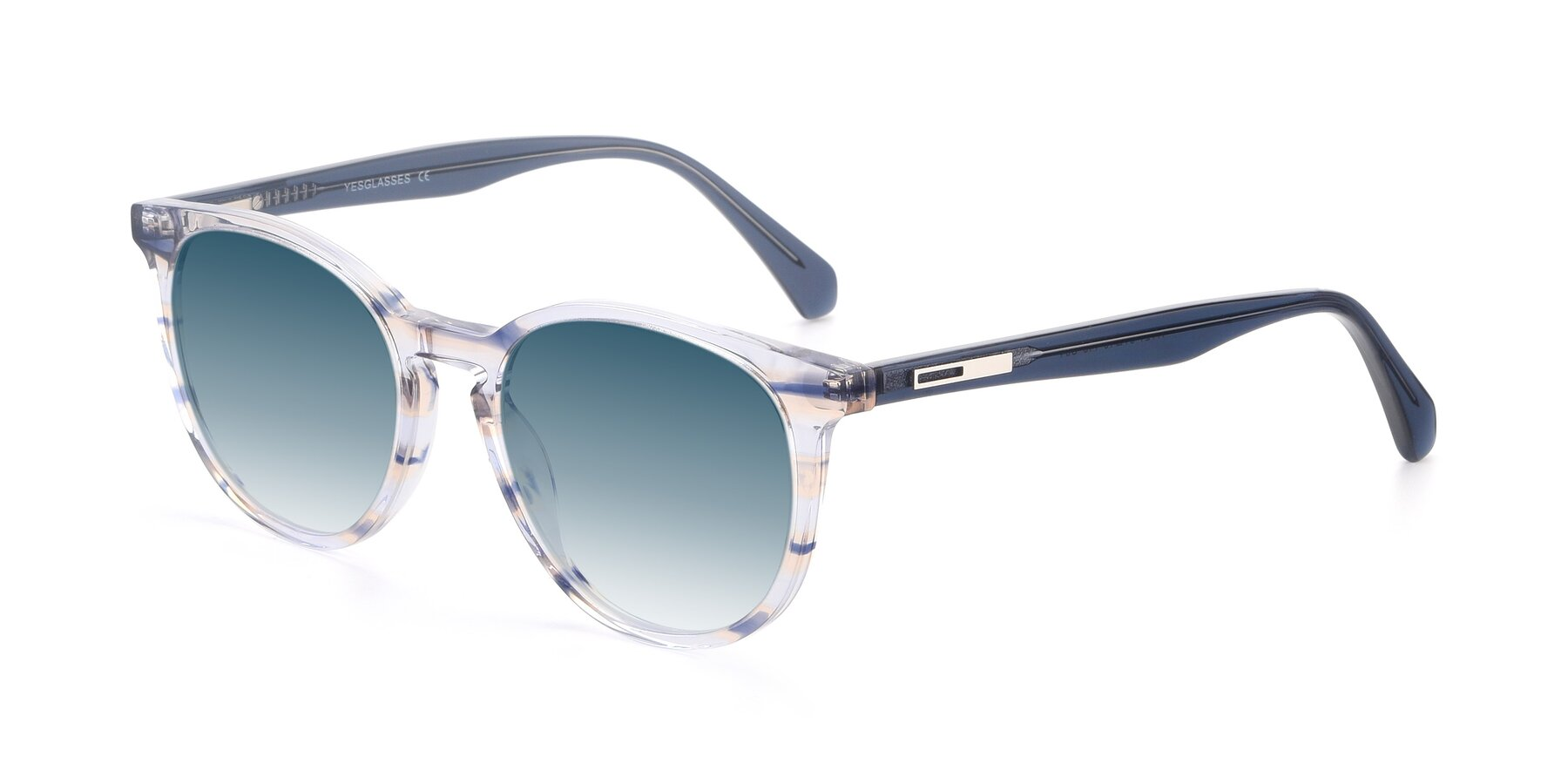 Angle of 17721 in Stripe Blue with Blue Gradient Lenses