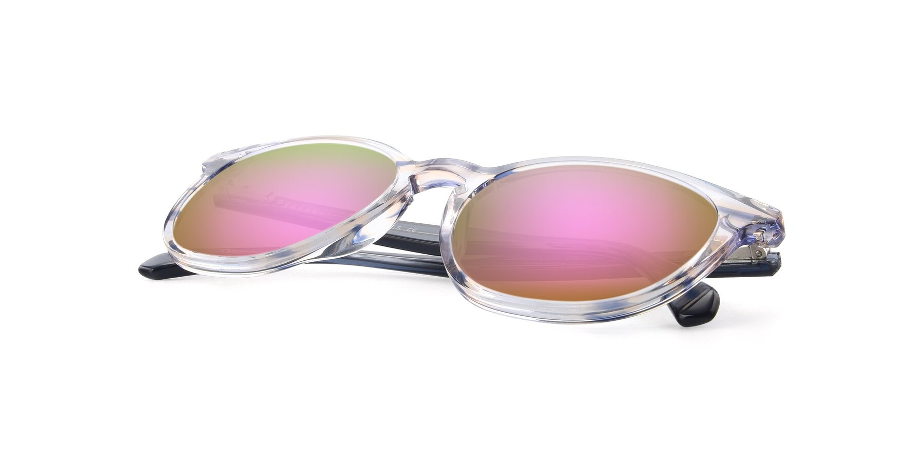 View of 17721 in Stripe Blue with Pink Mirrored Lenses