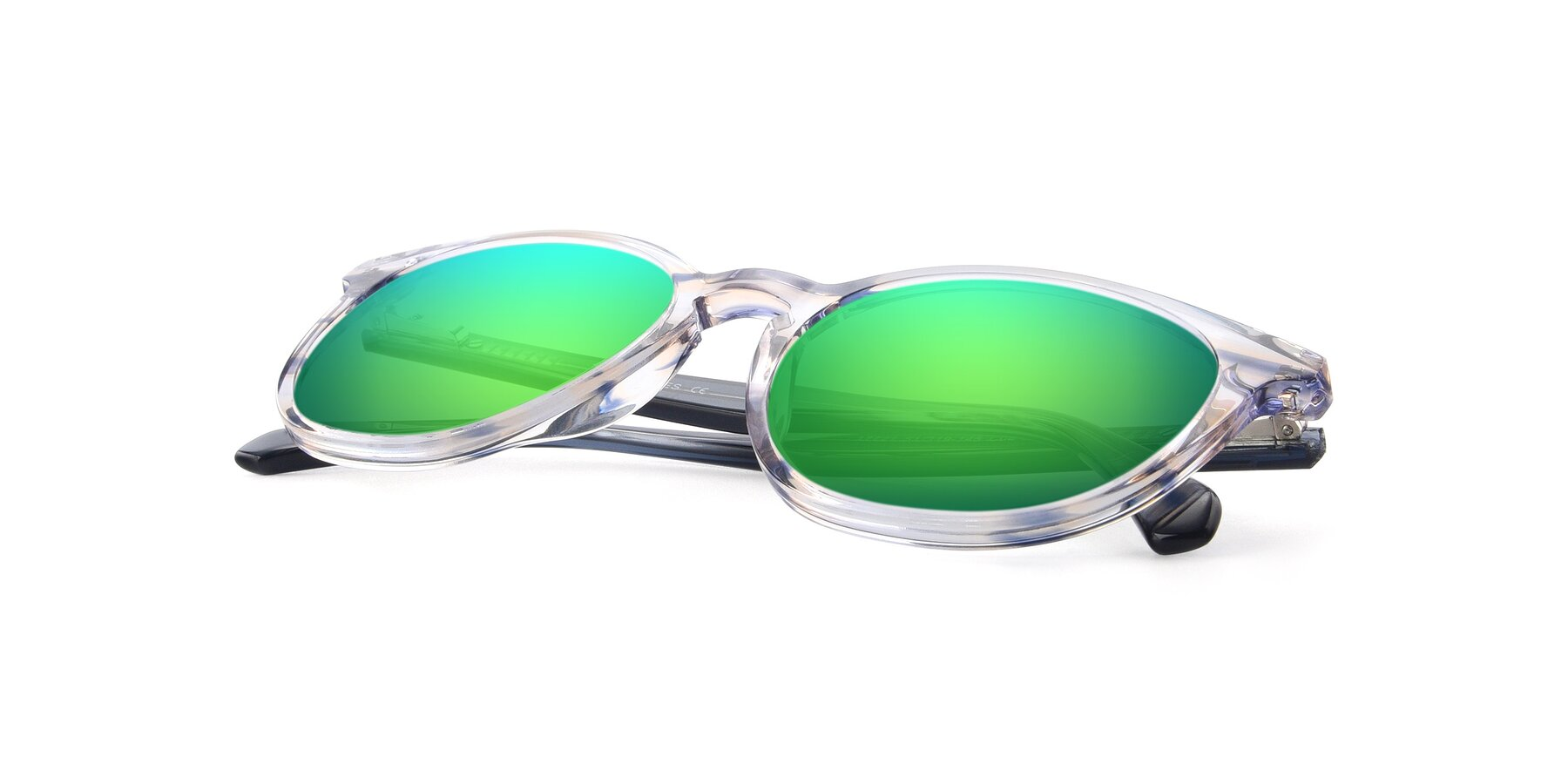 View of 17721 in Stripe Blue with Green Mirrored Lenses