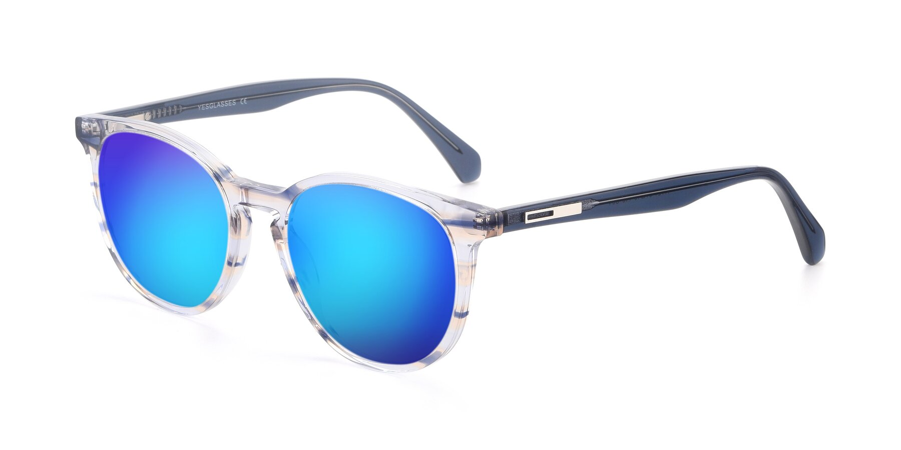 Angle of 17721 in Stripe Blue with Blue Mirrored Lenses