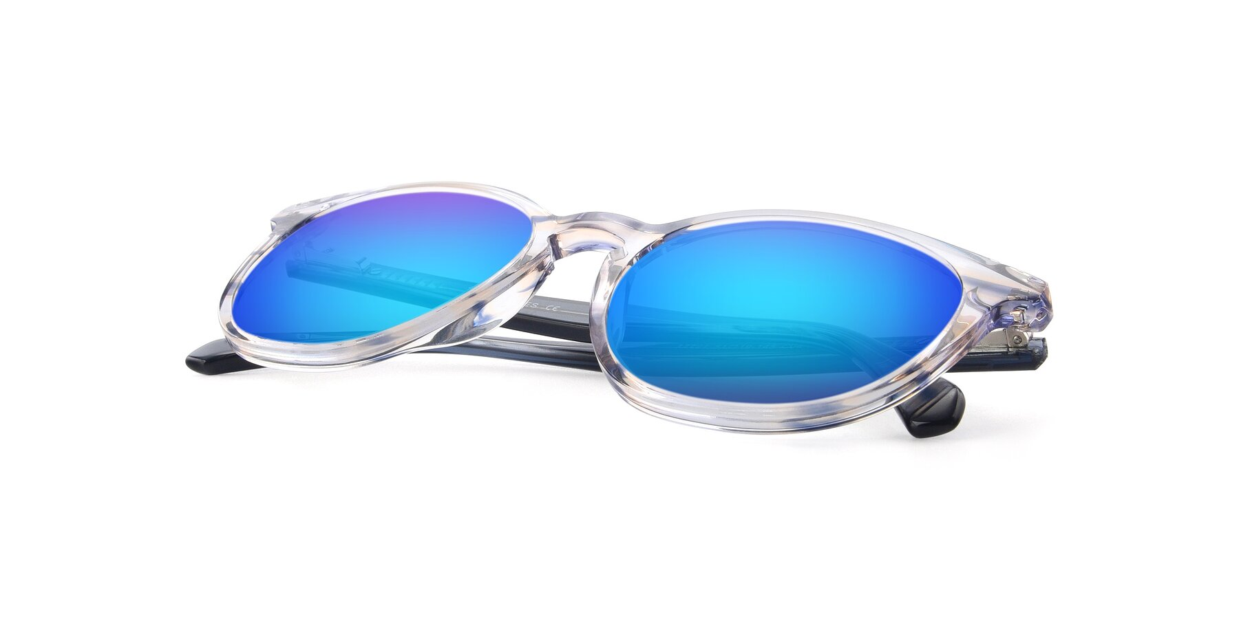 View of 17721 in Stripe Blue with Blue Mirrored Lenses