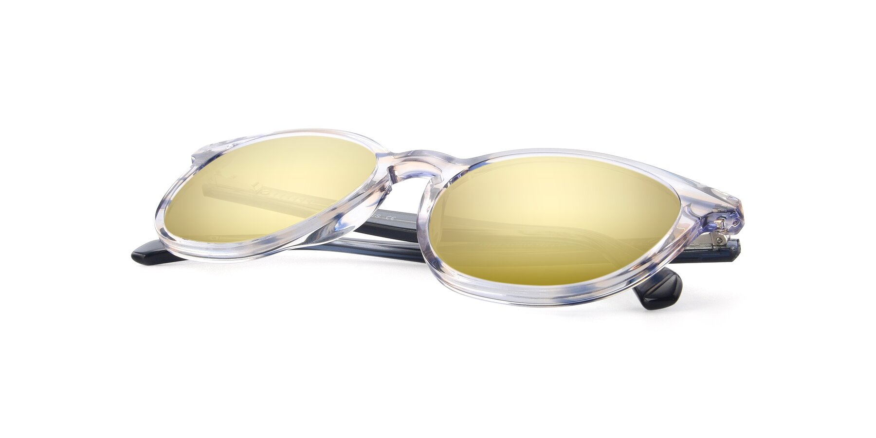 View of 17721 in Stripe Blue with Gold Mirrored Lenses