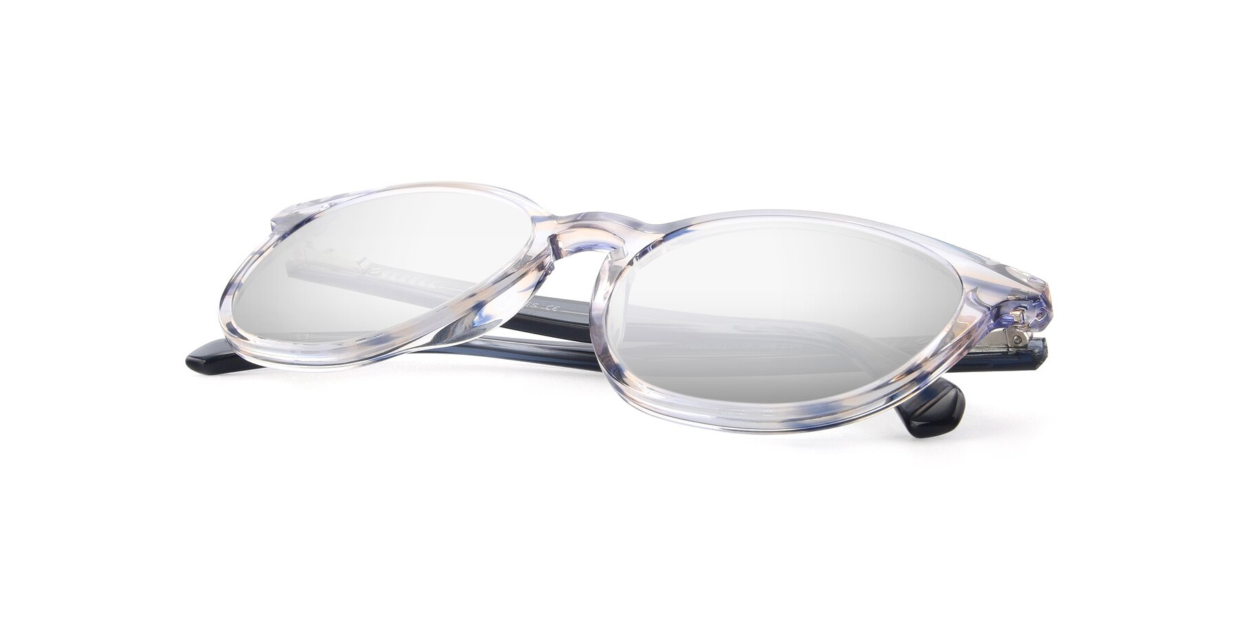 View of 17721 in Stripe Blue with Silver Mirrored Lenses