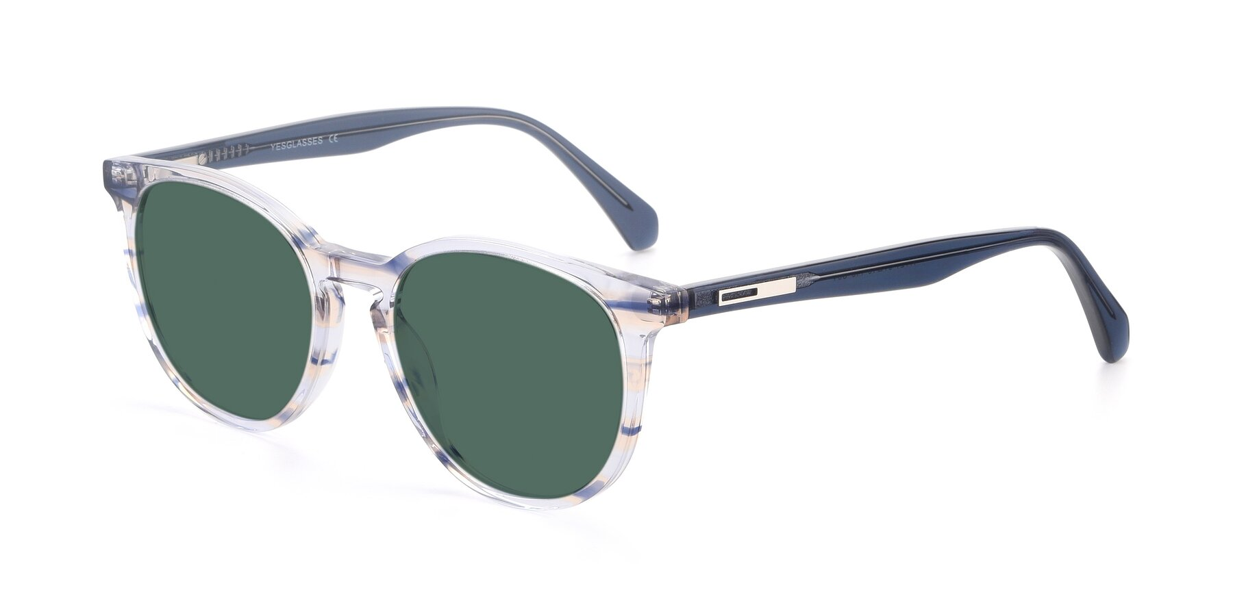 Angle of 17721 in Stripe Blue with Green Polarized Lenses