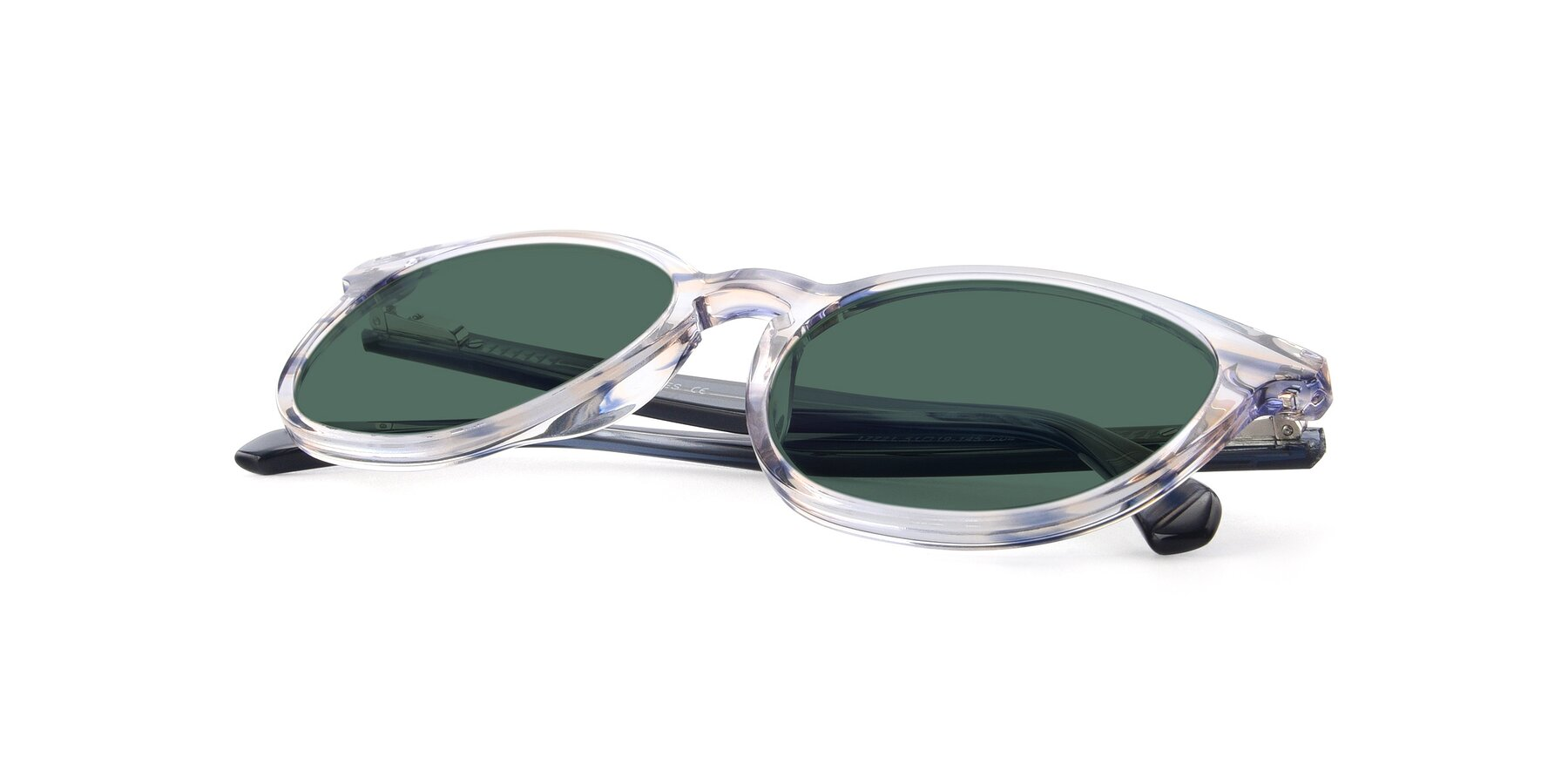 View of 17721 in Stripe Blue with Green Polarized Lenses