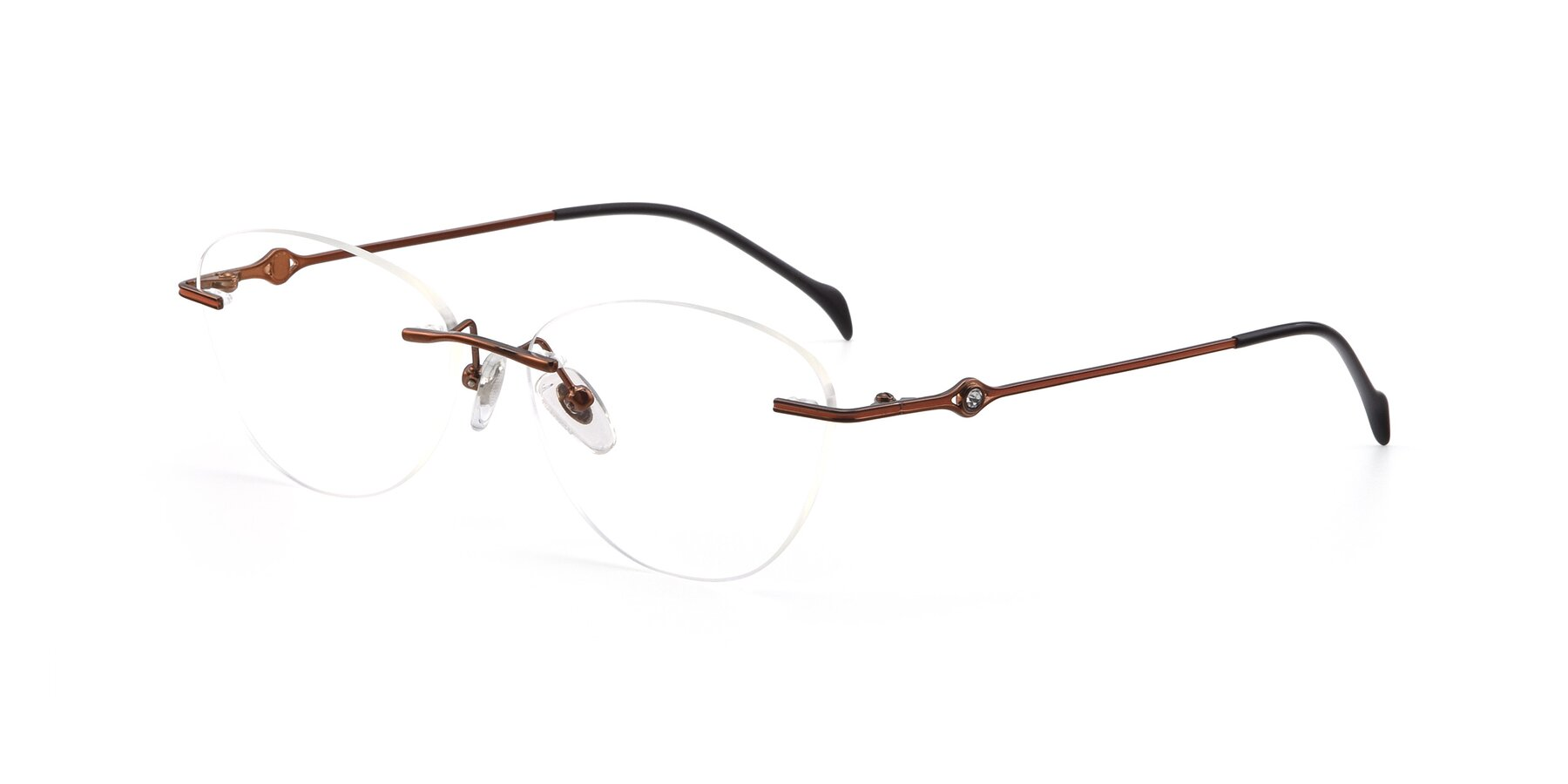 Angle of 19005 in Bronze with Clear Blue Light Blocking Lenses