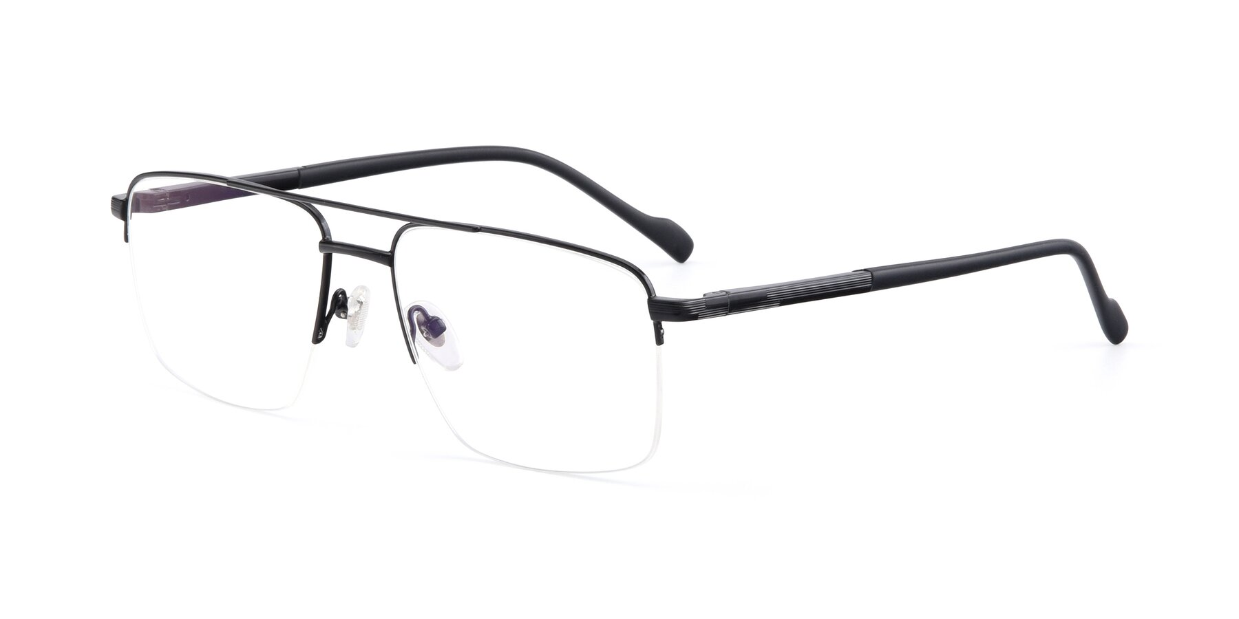 Angle of 19013 in Black with Clear Eyeglass Lenses