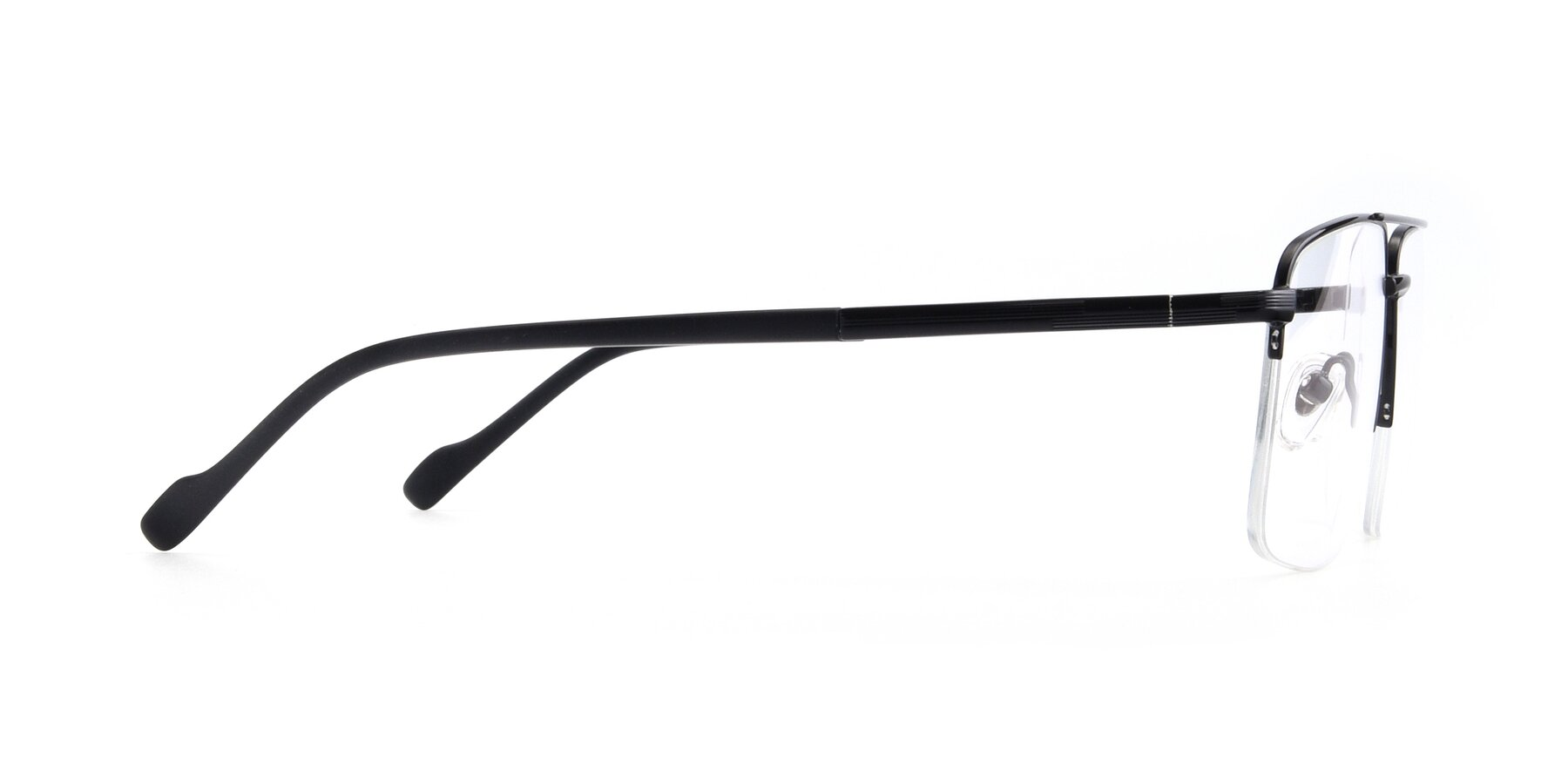 Side of 19013 in Black with Clear Eyeglass Lenses
