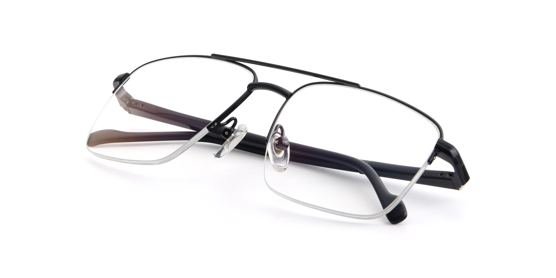 View of 19013 in Black with Clear Eyeglass Lenses