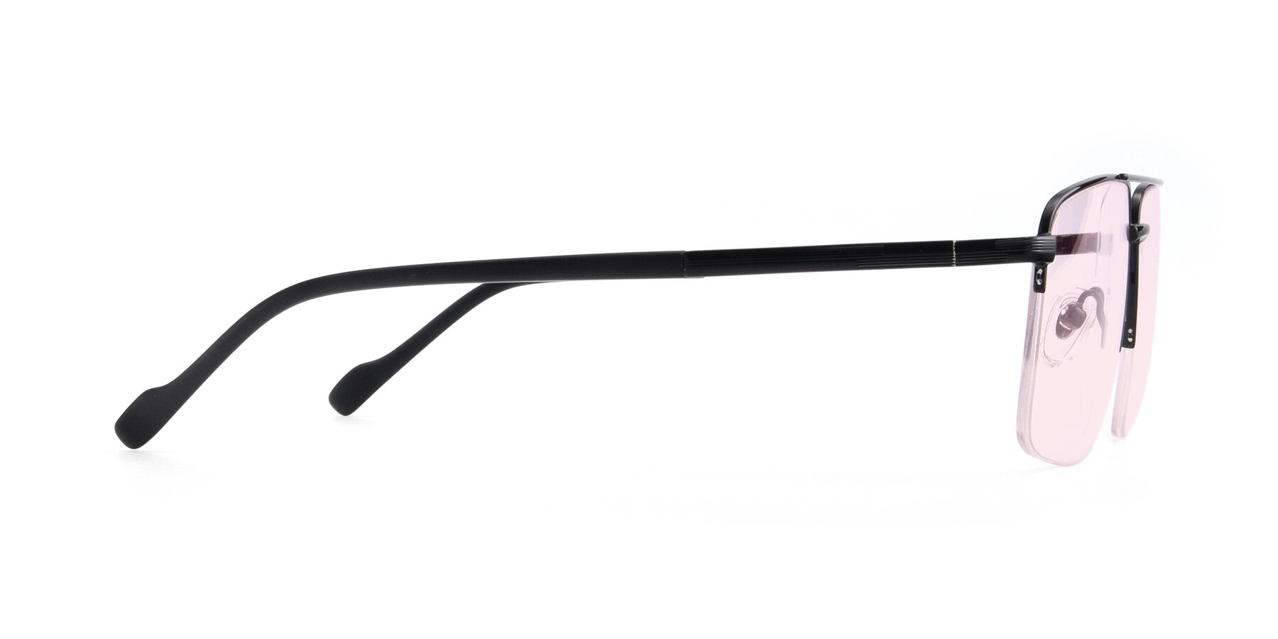 Side of 19013 in Black with Light Pink Tinted Lenses