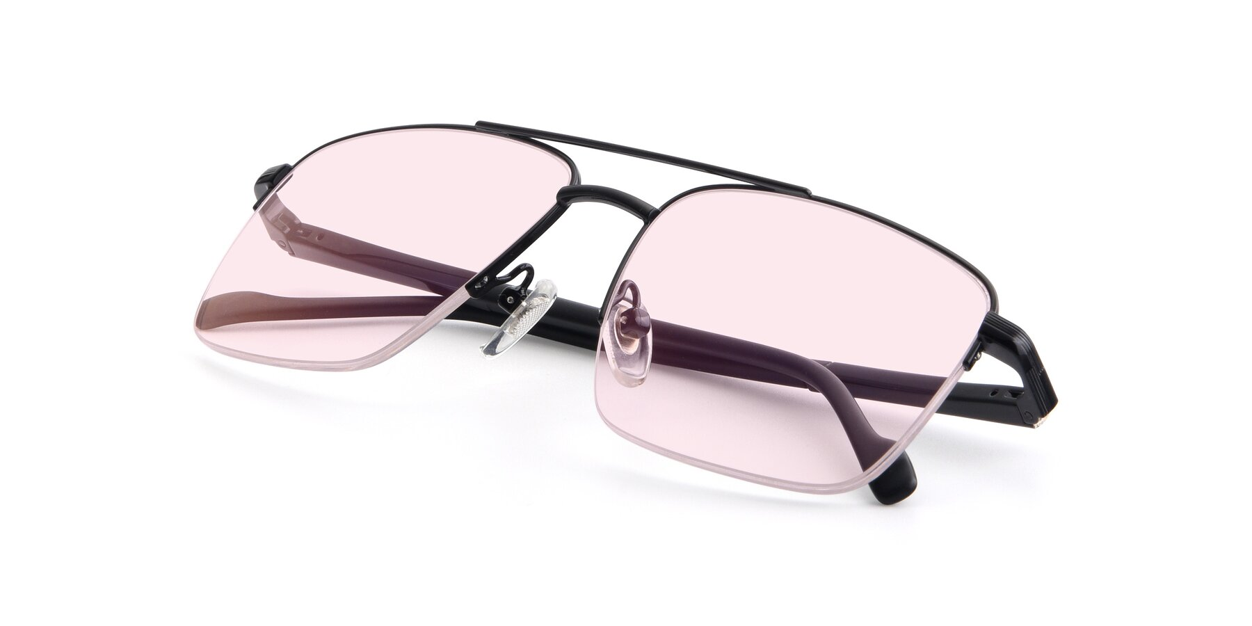 View of 19013 in Black with Light Pink Tinted Lenses