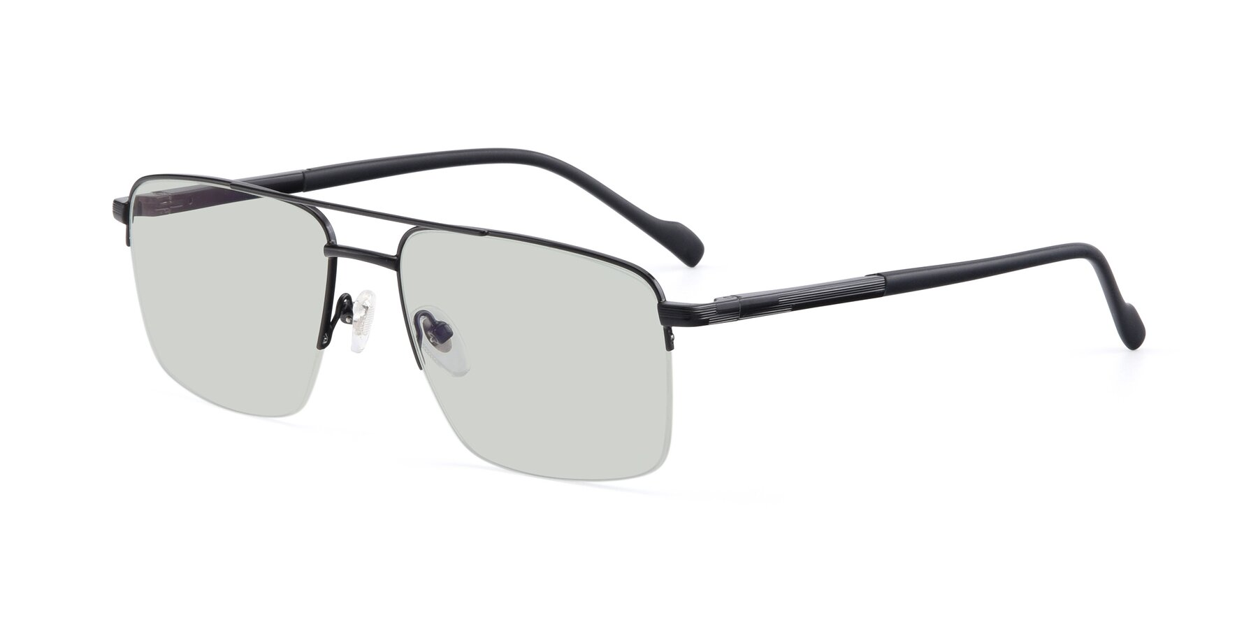 Angle of 19013 in Black with Light Green Tinted Lenses