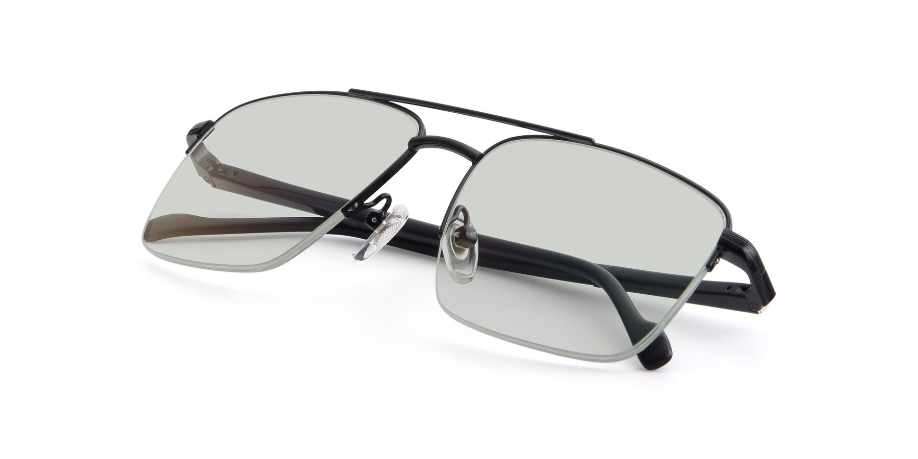 View of 19013 in Black with Light Green Tinted Lenses