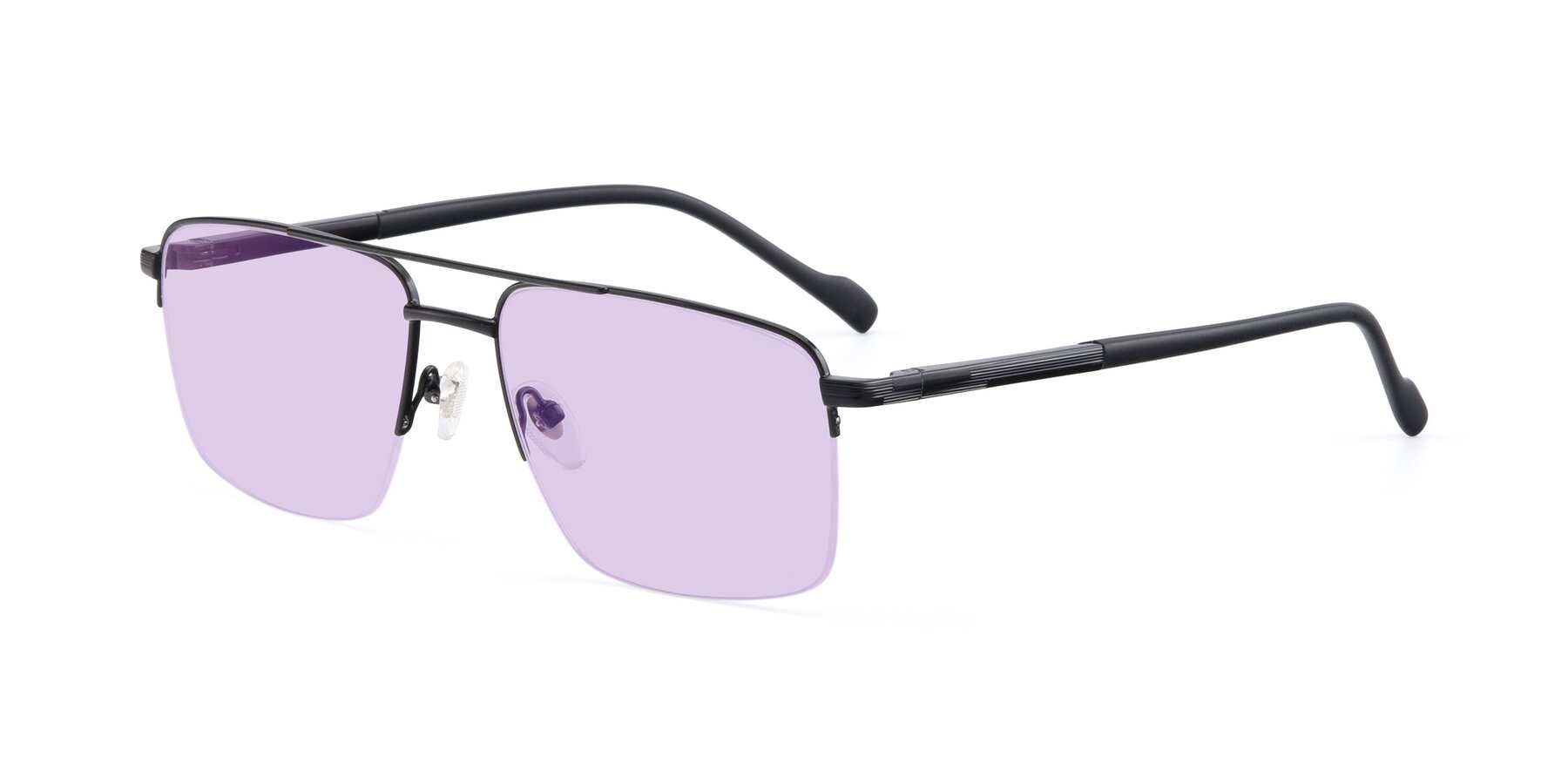 Angle of 19013 in Black with Light Purple Tinted Lenses