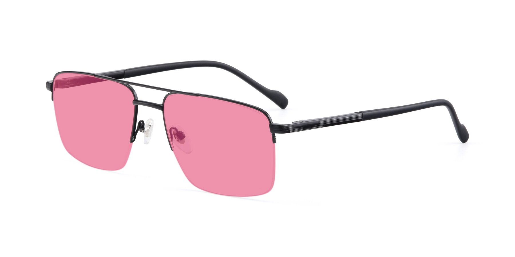 Angle of 19013 in Black with Pink Tinted Lenses
