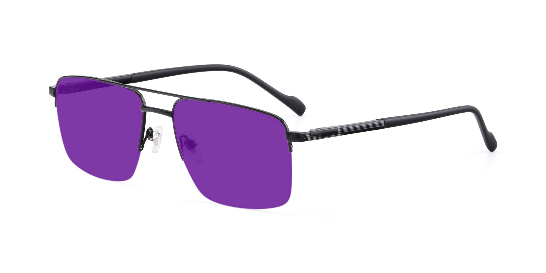 Angle of 19013 in Black with Purple Tinted Lenses