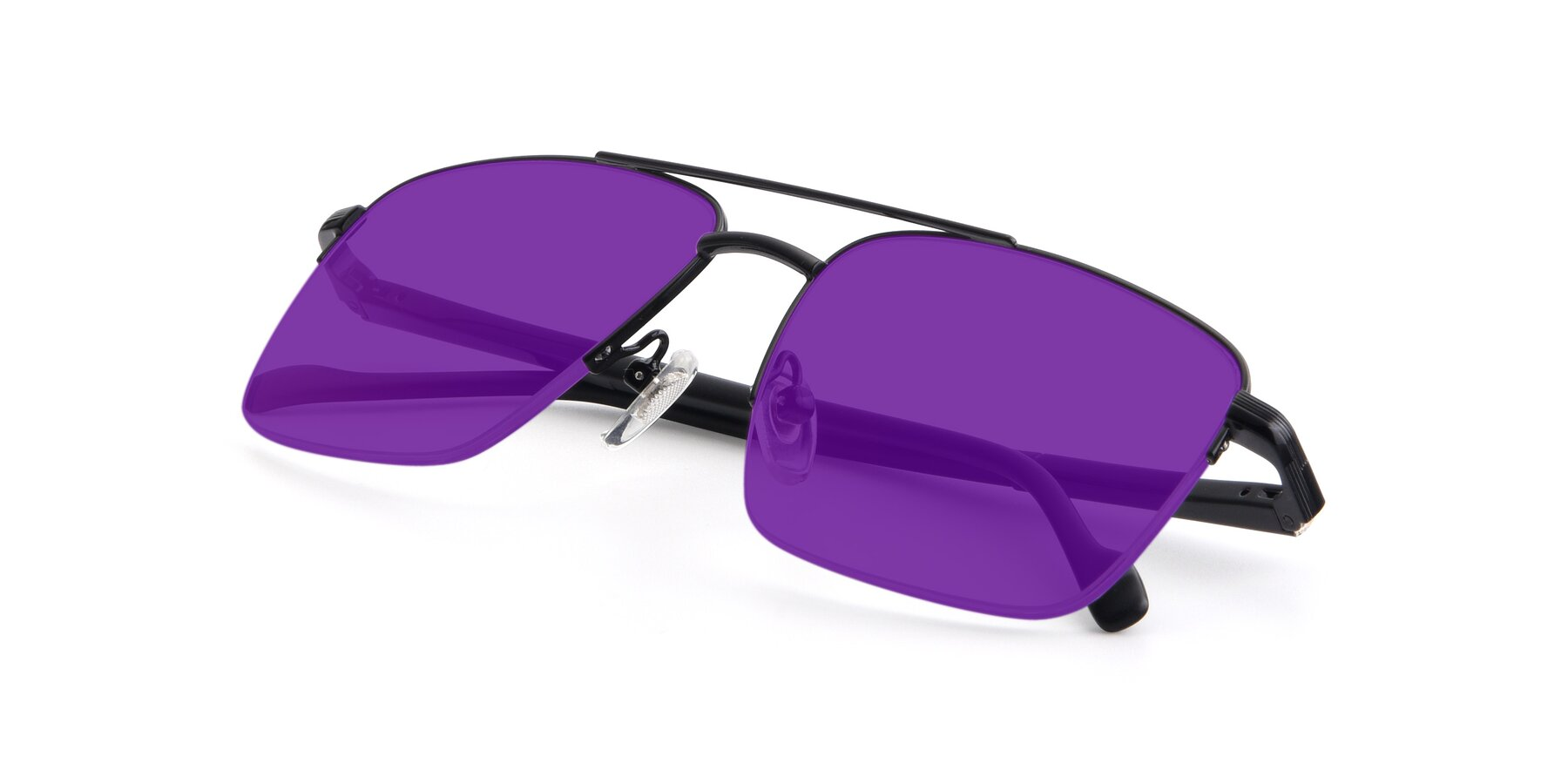 View of 19013 in Black with Purple Tinted Lenses