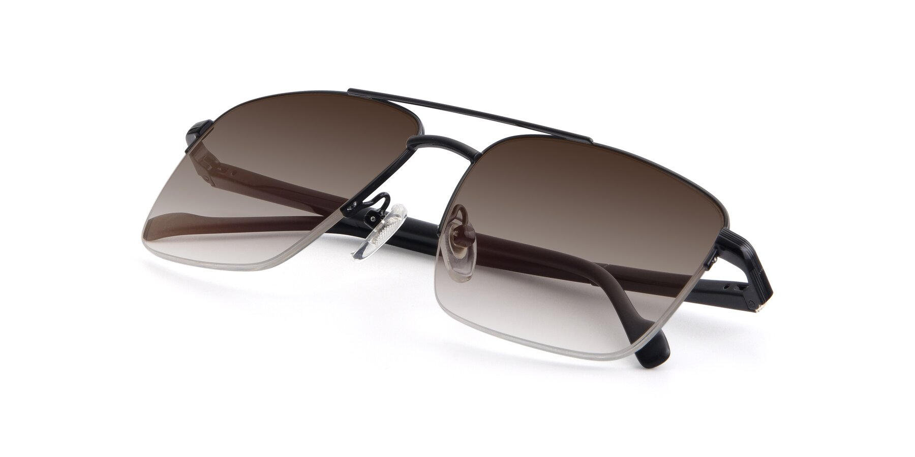 View of 19013 in Black with Brown Gradient Lenses