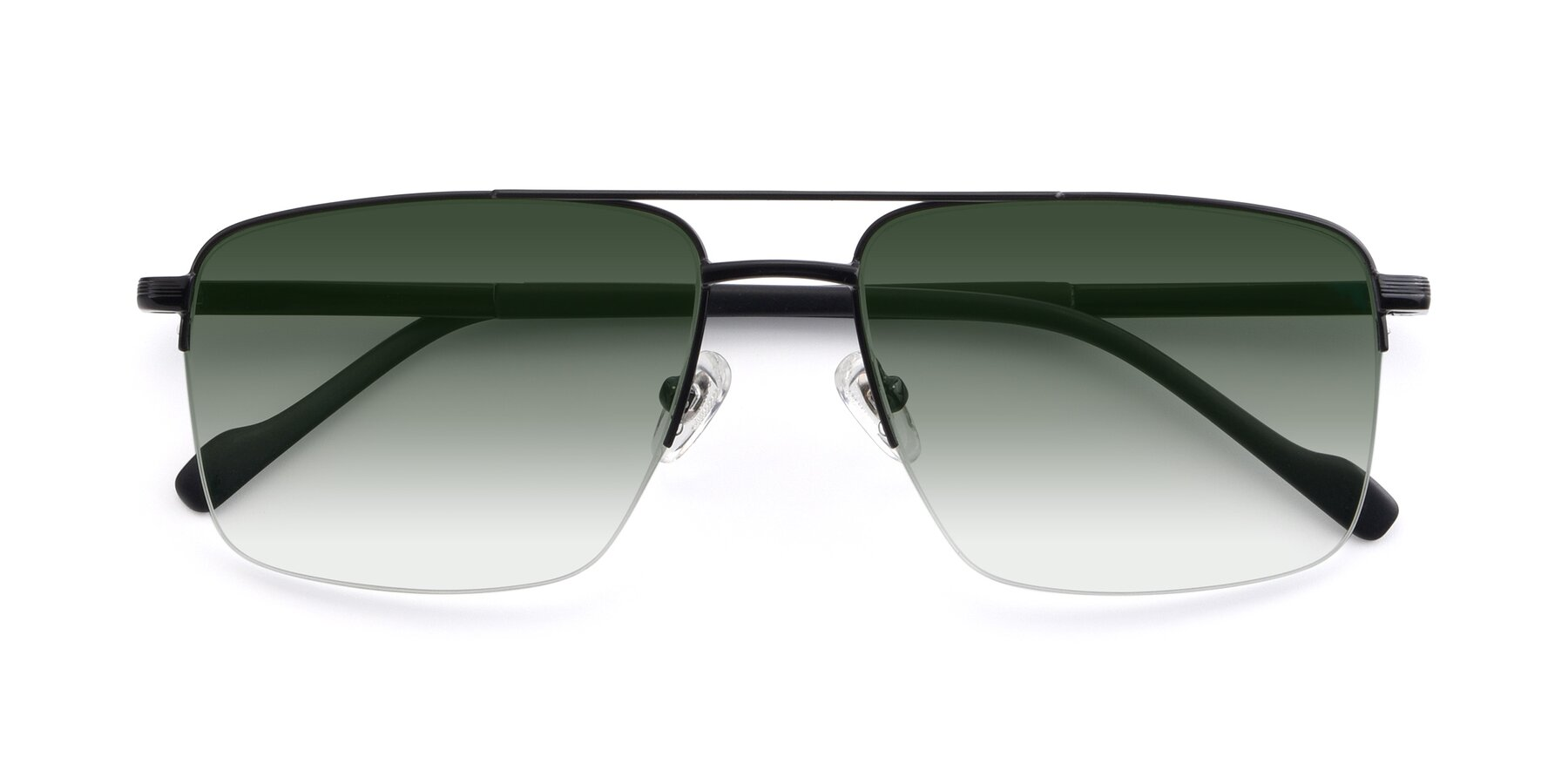 Folded Front of 19013 in Black with Green Gradient Lenses