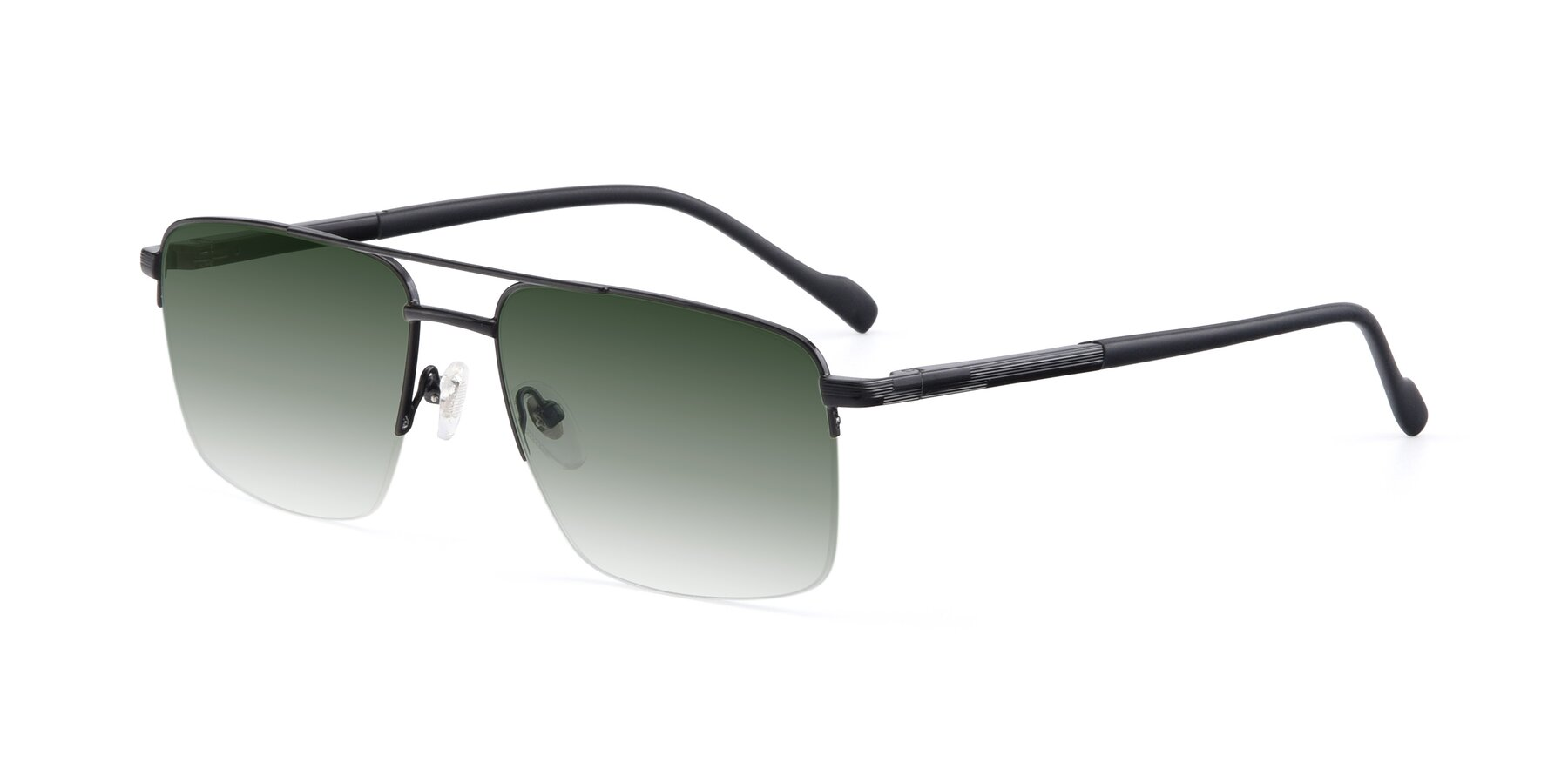 Angle of 19013 in Black with Green Gradient Lenses