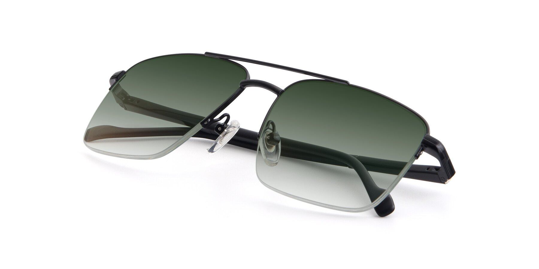 View of 19013 in Black with Green Gradient Lenses
