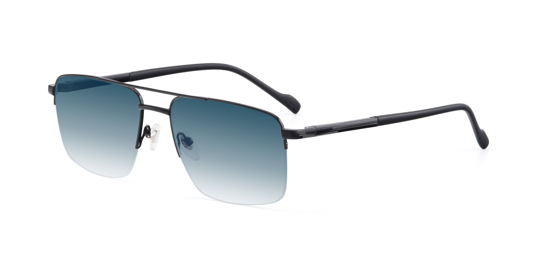 Angle of 19013 in Black with Blue Gradient Lenses
