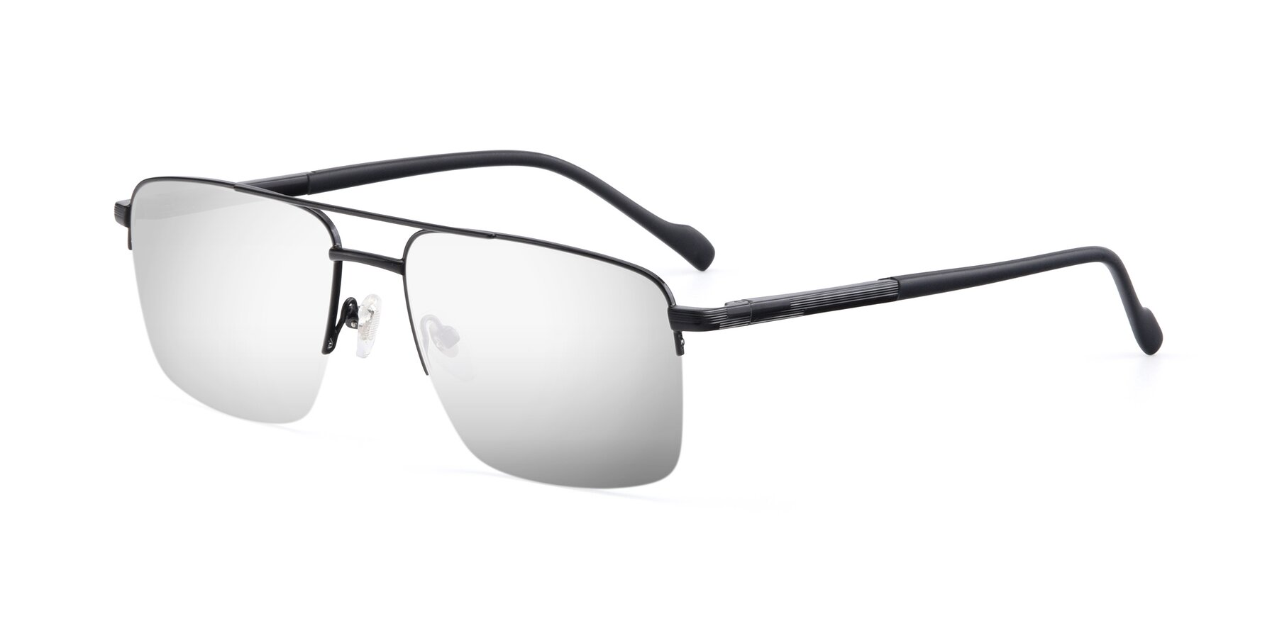 Angle of 19013 in Black with Silver Mirrored Lenses