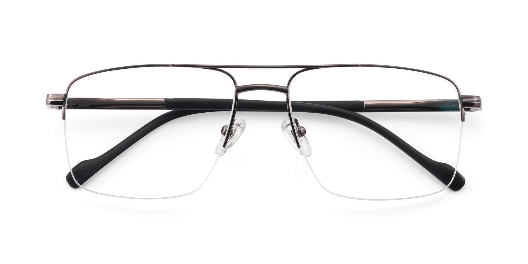 Folded Front of 19013 in Gunmetal with Clear Blue Light Blocking Lenses