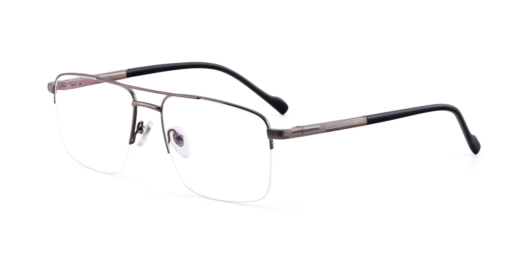 Angle of 19013 in Gunmetal with Clear Blue Light Blocking Lenses