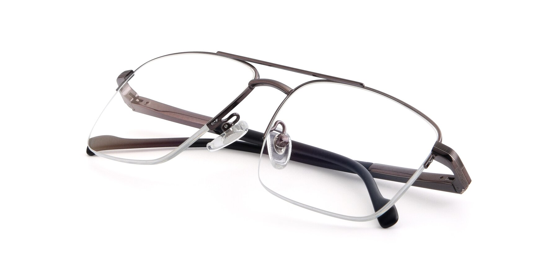 View of 19013 in Gunmetal with Clear Blue Light Blocking Lenses