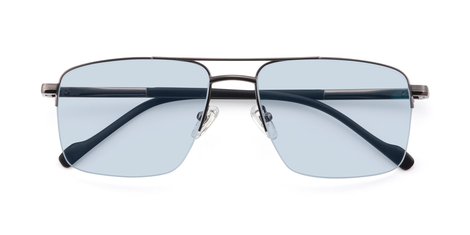 Folded Front of 19013 in Gunmetal with Light Blue Tinted Lenses