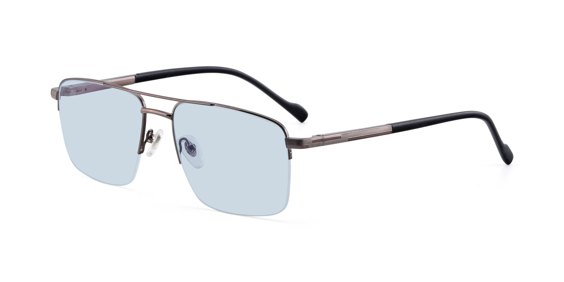 Angle of 19013 in Gunmetal with Light Blue Tinted Lenses