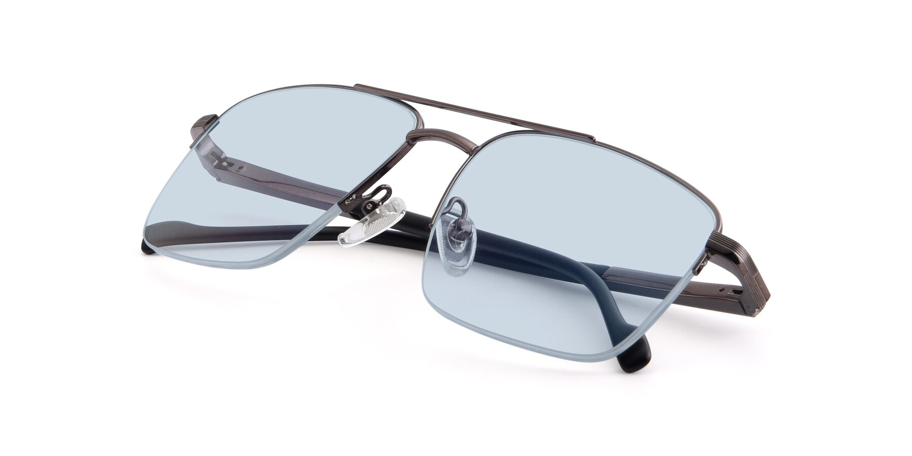 View of 19013 in Gunmetal with Light Blue Tinted Lenses