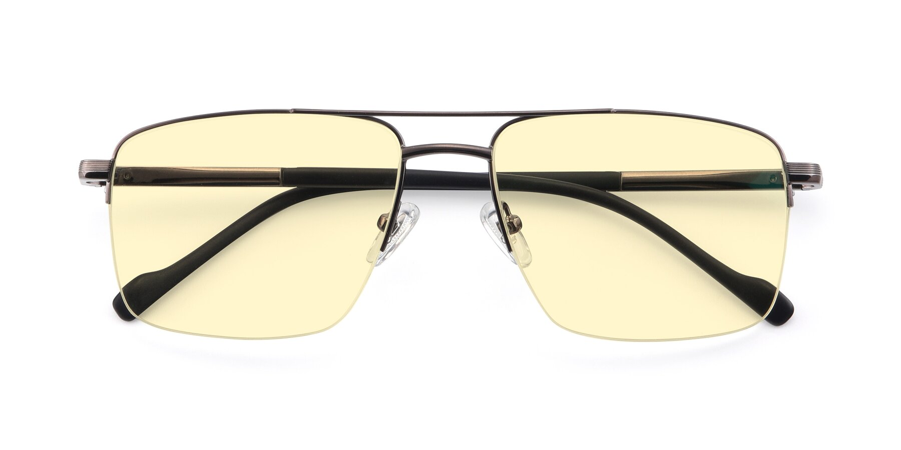 Folded Front of 19013 in Gunmetal with Light Yellow Tinted Lenses