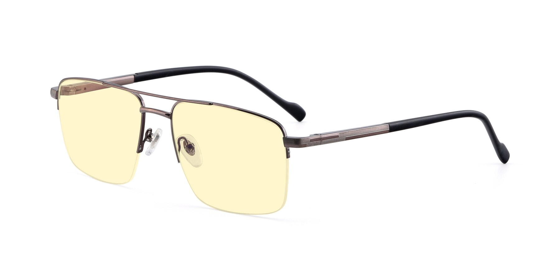 Angle of 19013 in Gunmetal with Light Yellow Tinted Lenses