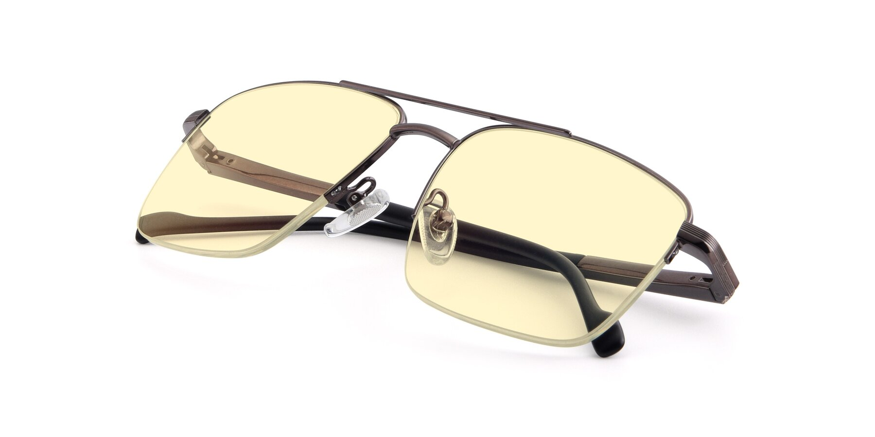 View of 19013 in Gunmetal with Light Yellow Tinted Lenses