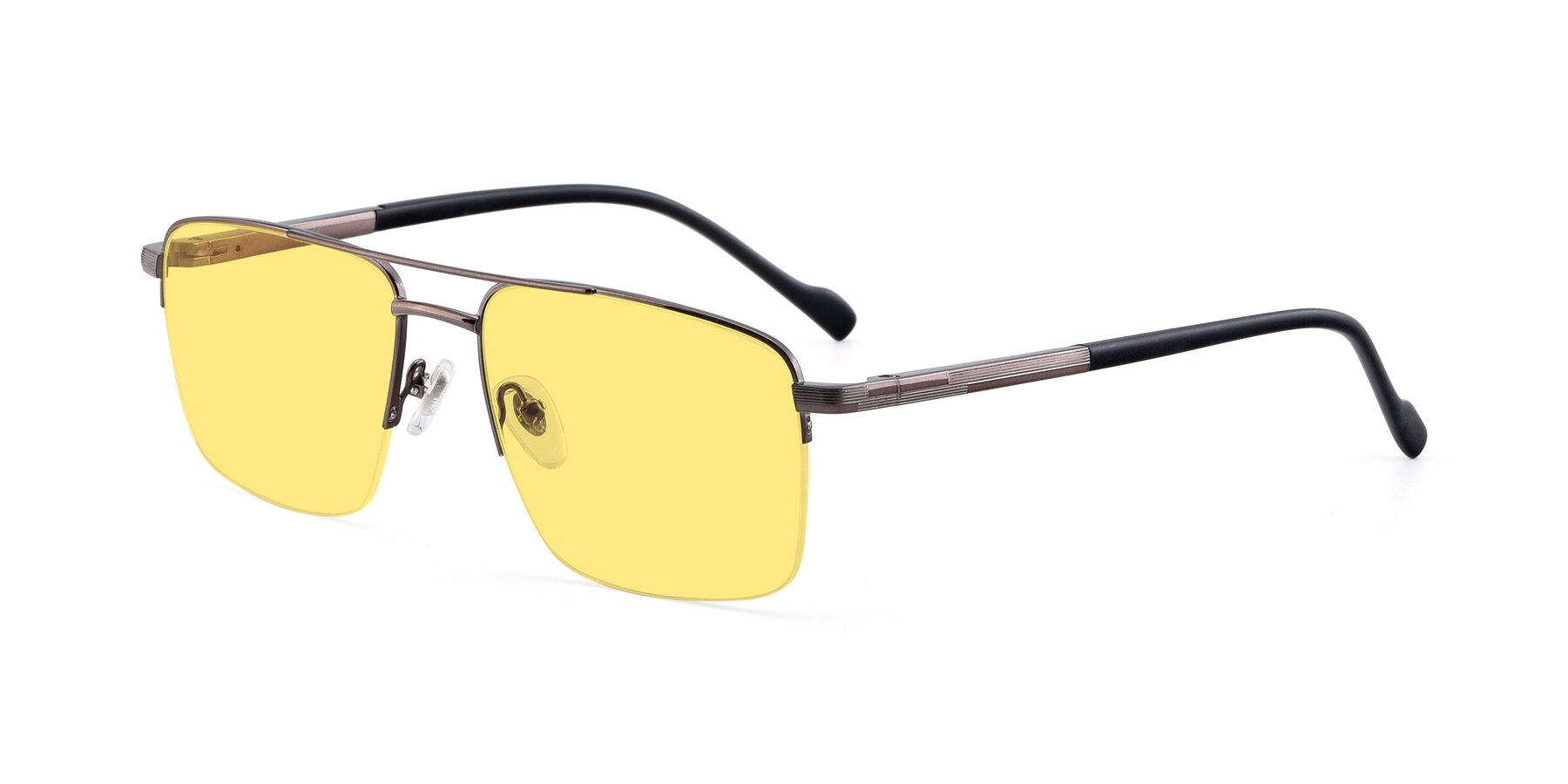 Angle of 19013 in Gunmetal with Medium Yellow Tinted Lenses