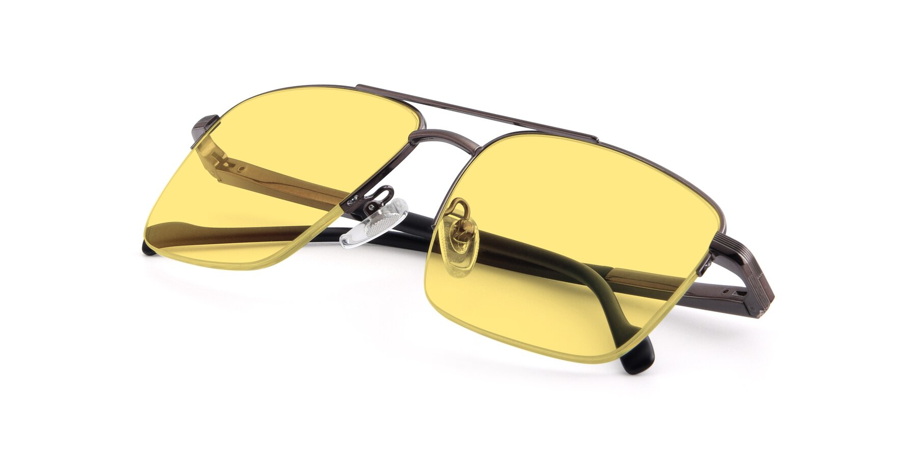View of 19013 in Gunmetal with Medium Yellow Tinted Lenses