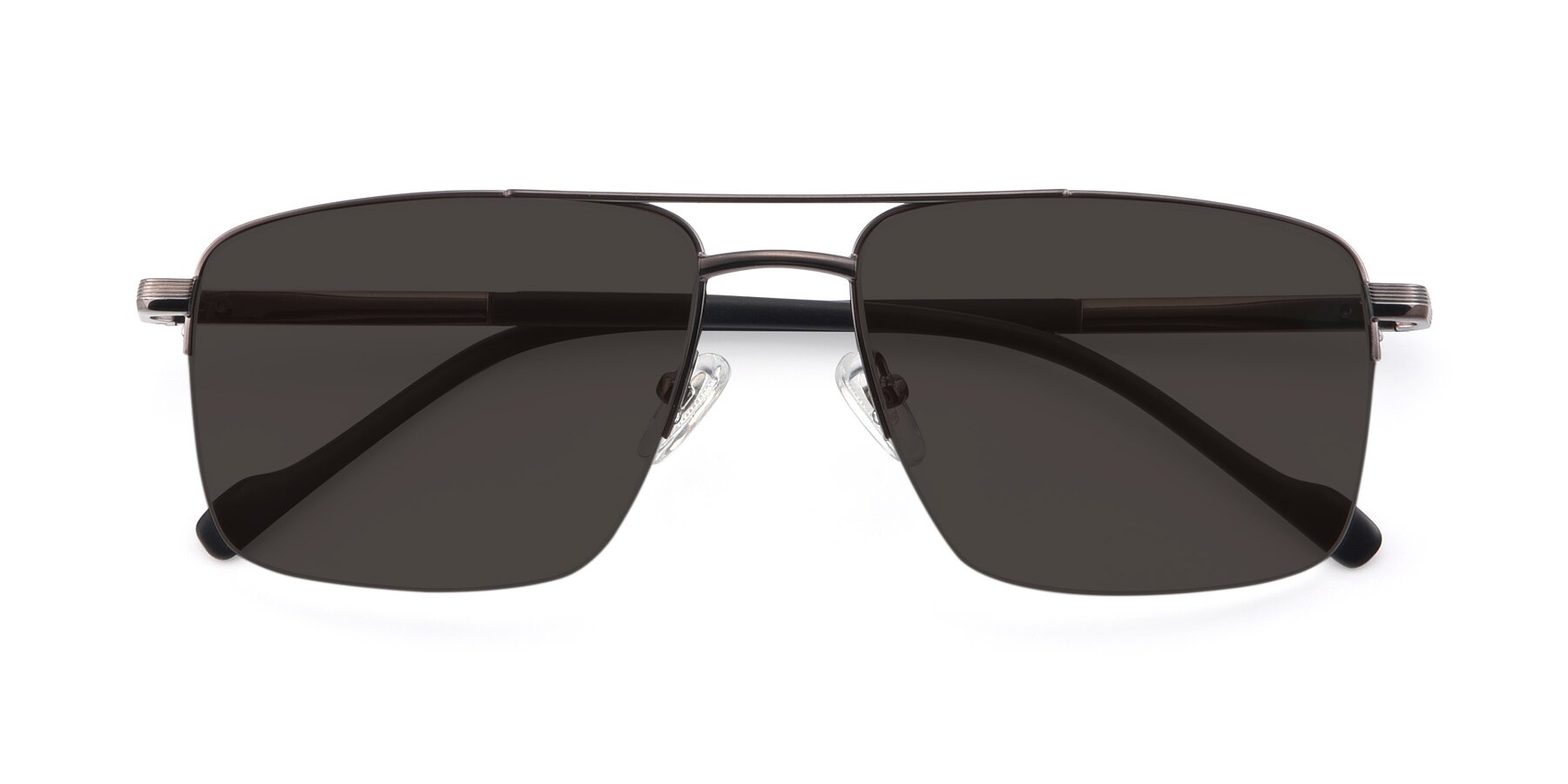 Folded Front of 19013 in Gunmetal with Gray Tinted Lenses