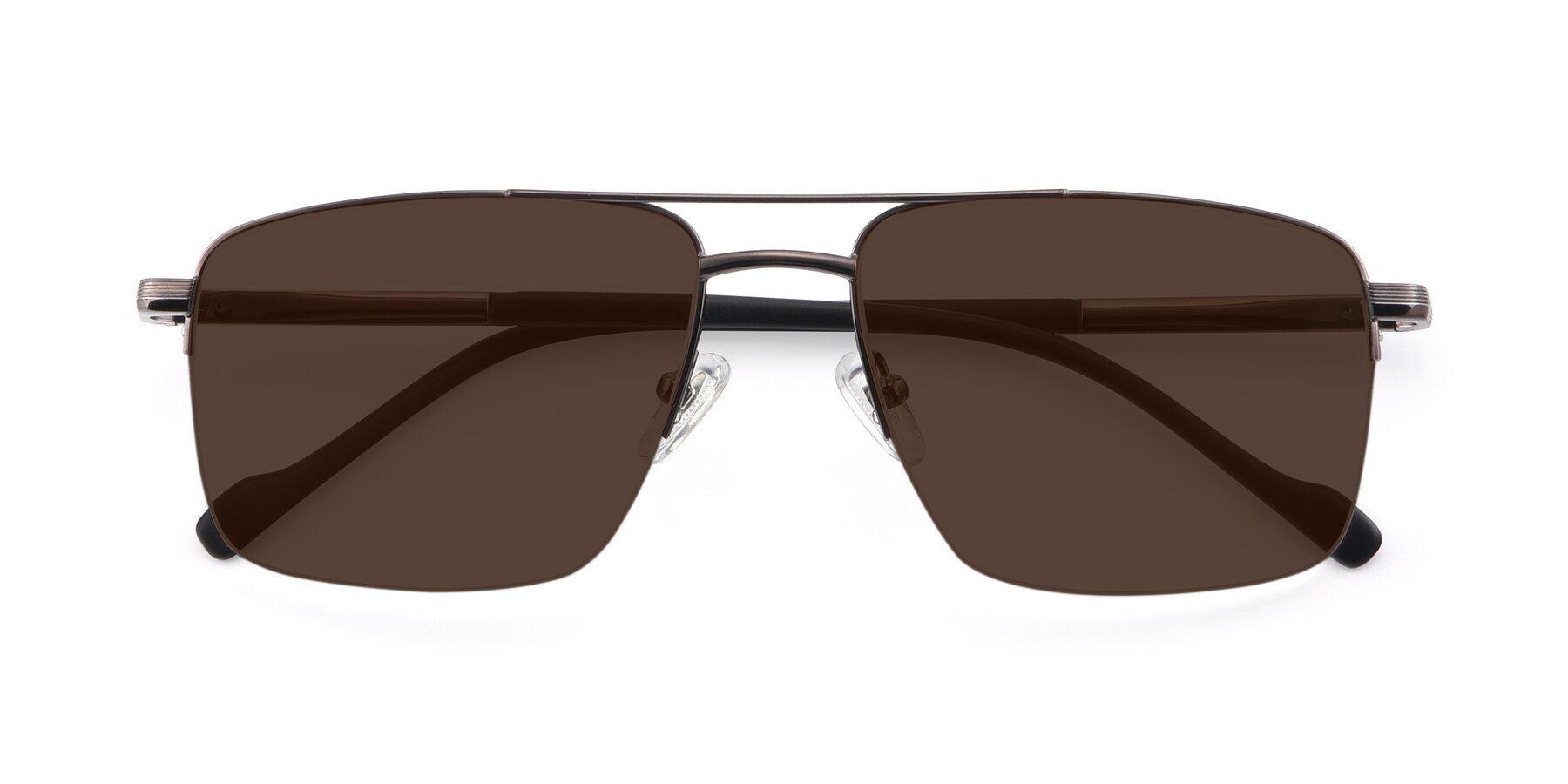 Folded Front of 19013 in Gunmetal with Brown Tinted Lenses