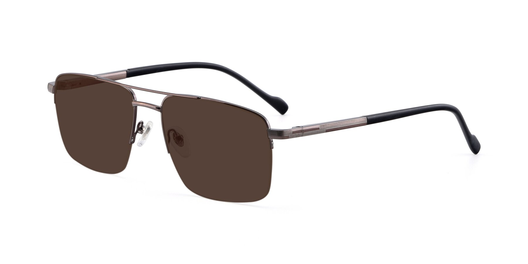 Angle of 19013 in Gunmetal with Brown Tinted Lenses