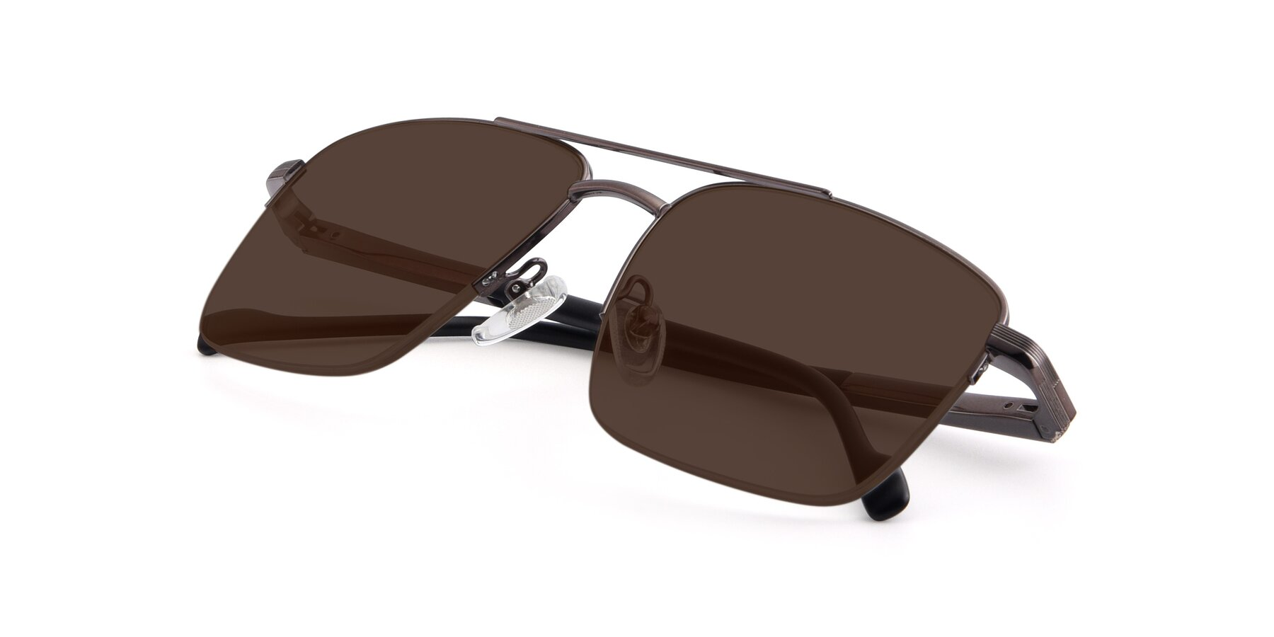 View of 19013 in Gunmetal with Brown Tinted Lenses