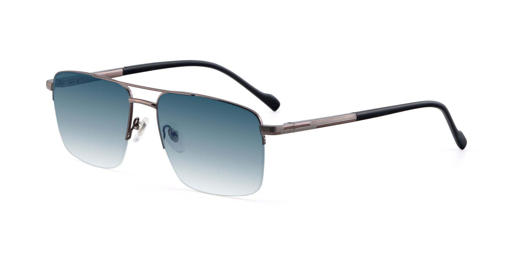 Angle of 19013 in Gunmetal with Blue Gradient Lenses