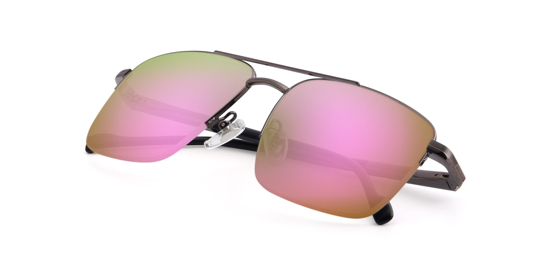 View of 19013 in Gunmetal with Pink Mirrored Lenses