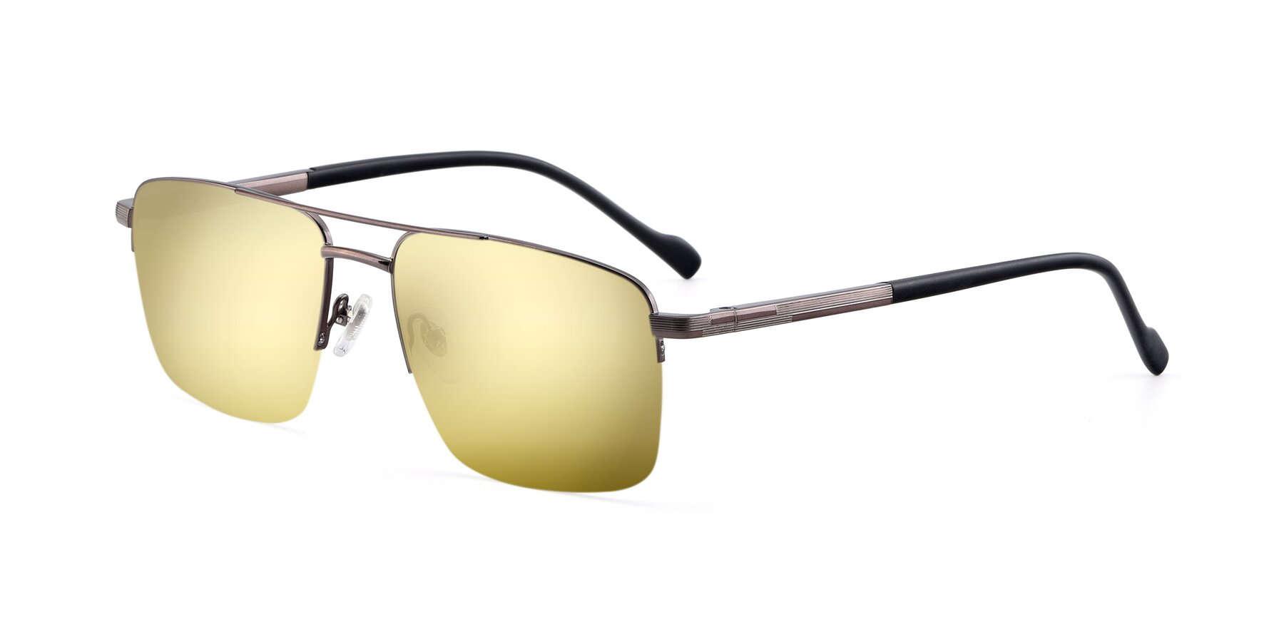 Angle of 19013 in Gunmetal with Gold Mirrored Lenses