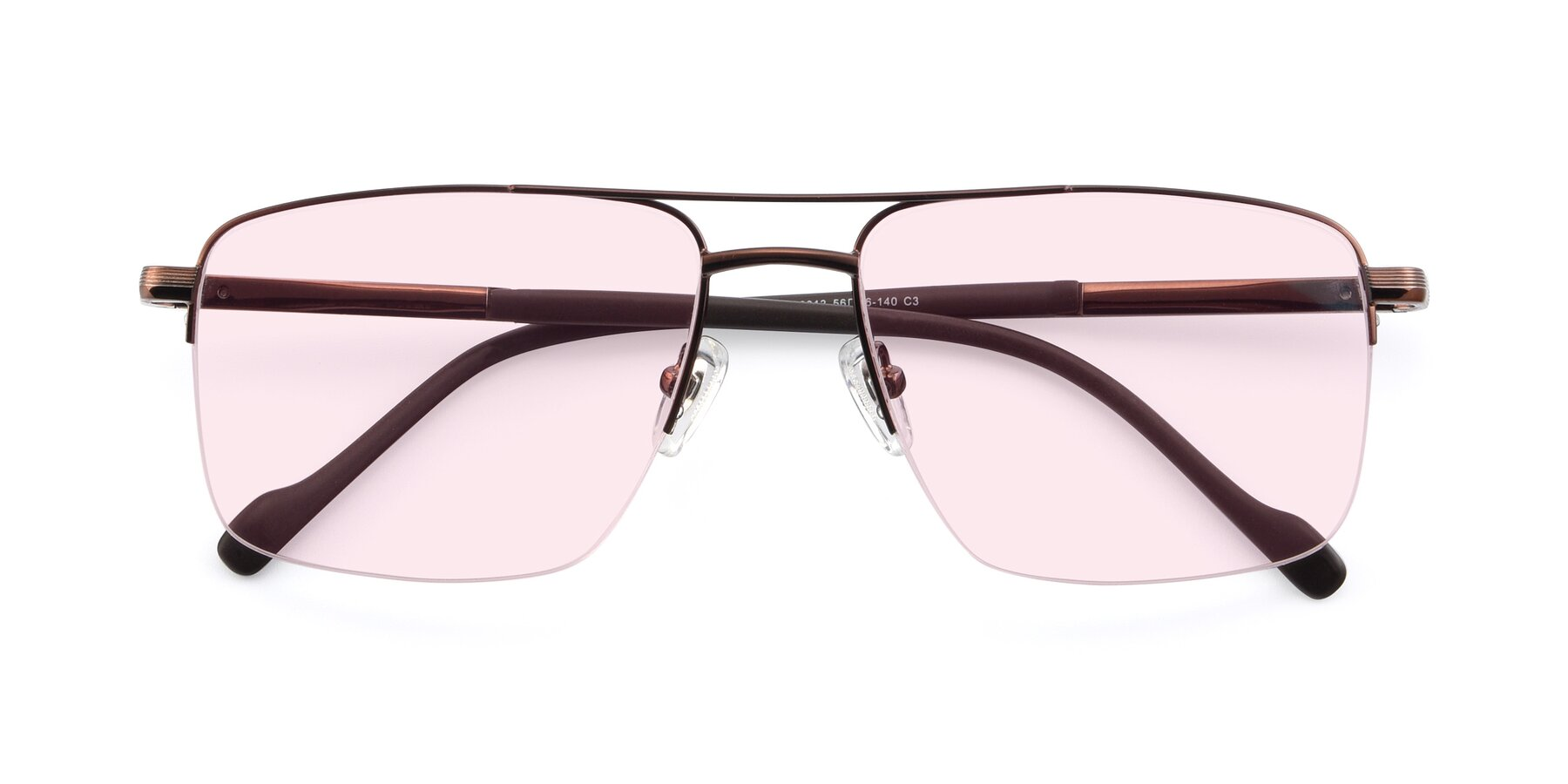 Folded Front of 19013 in Bronze with Light Pink Tinted Lenses