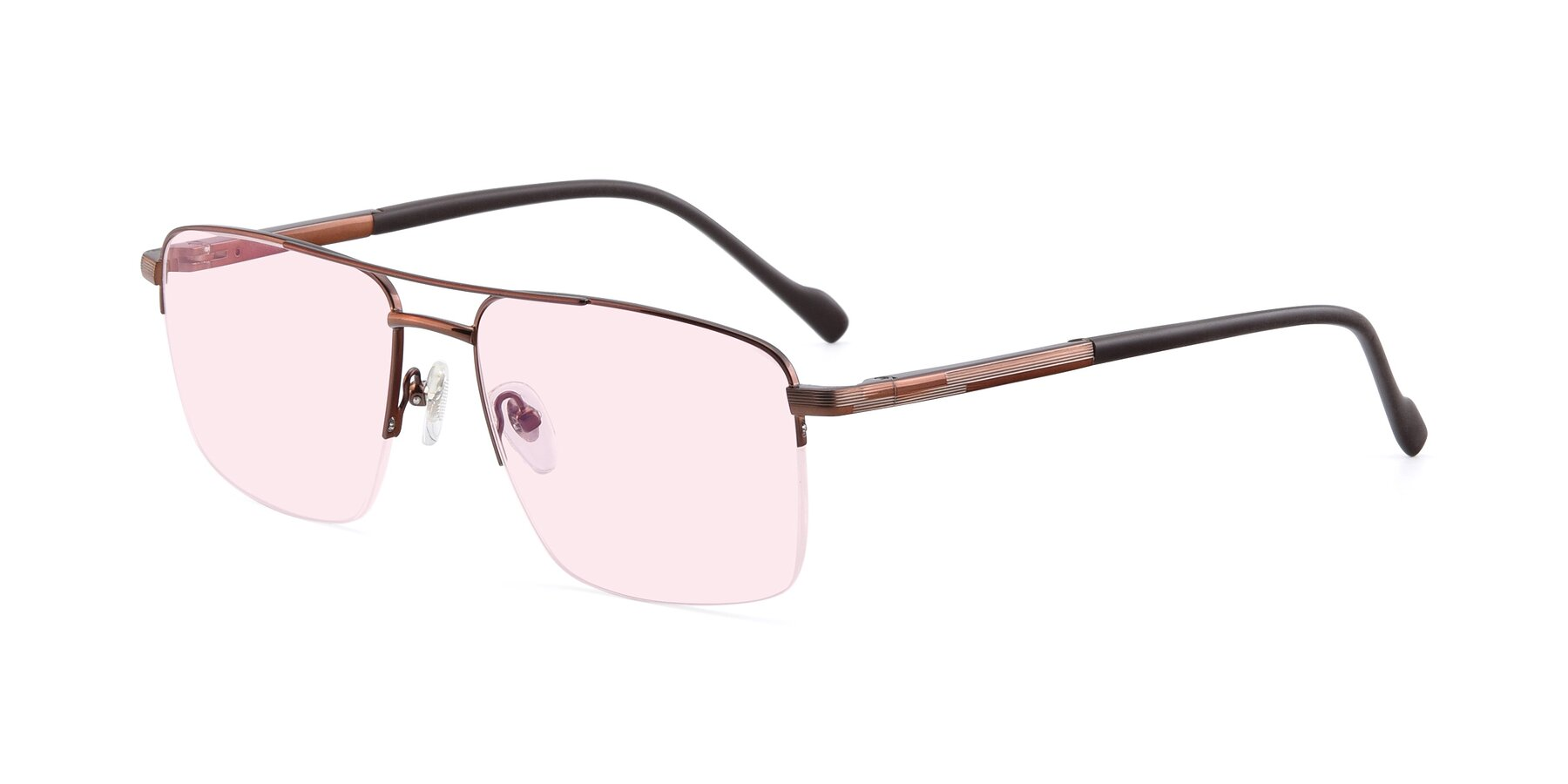 Angle of 19013 in Bronze with Light Pink Tinted Lenses