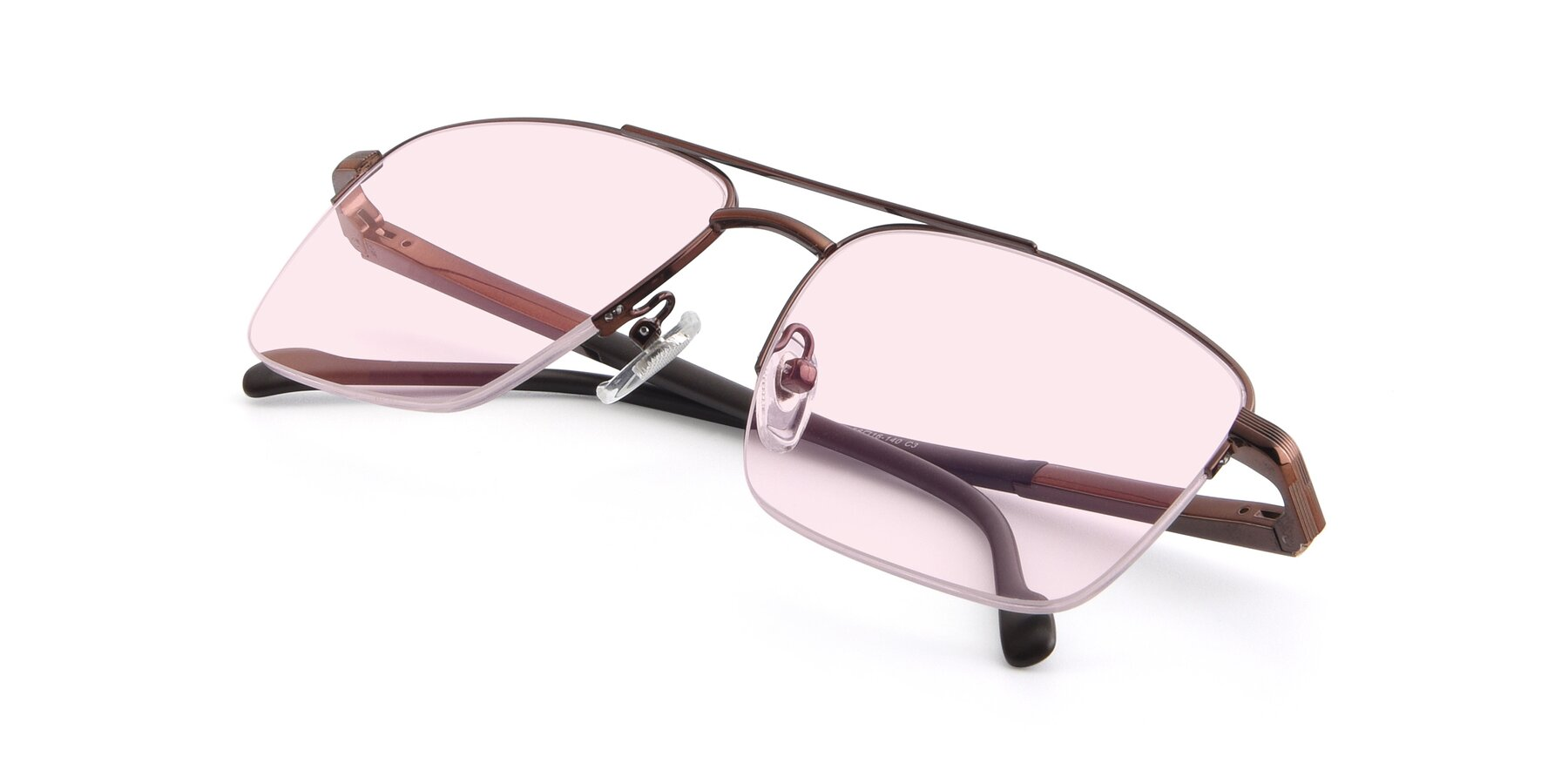 View of 19013 in Bronze with Light Pink Tinted Lenses