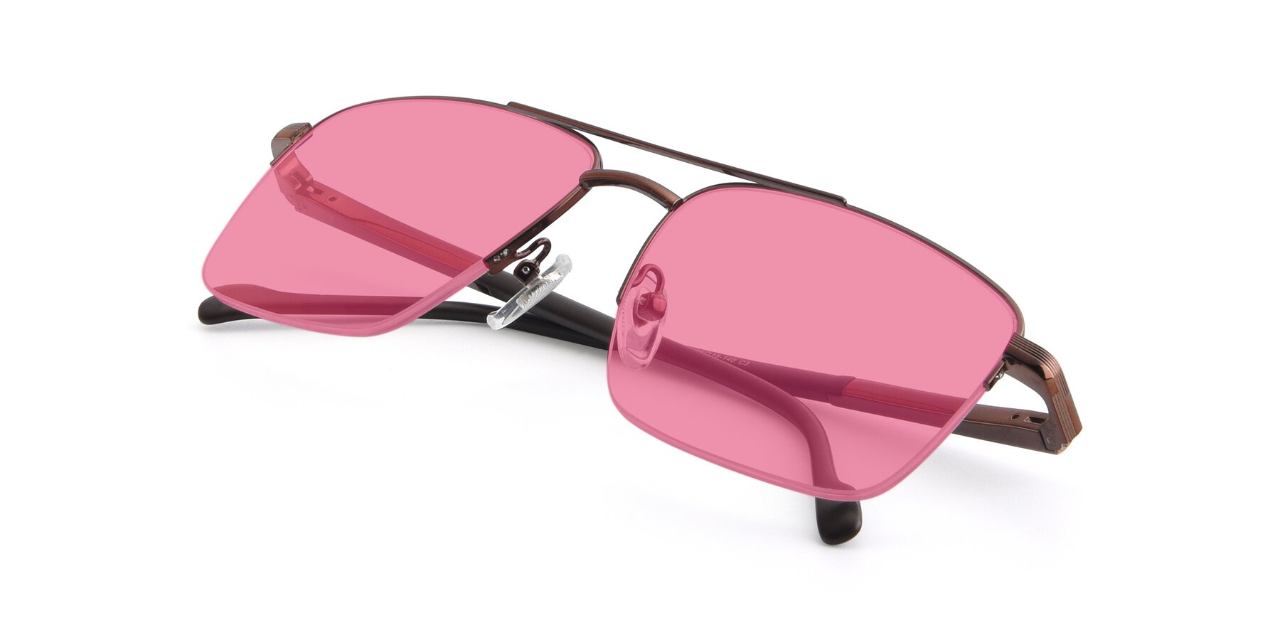 View of 19013 in Bronze with Pink Tinted Lenses