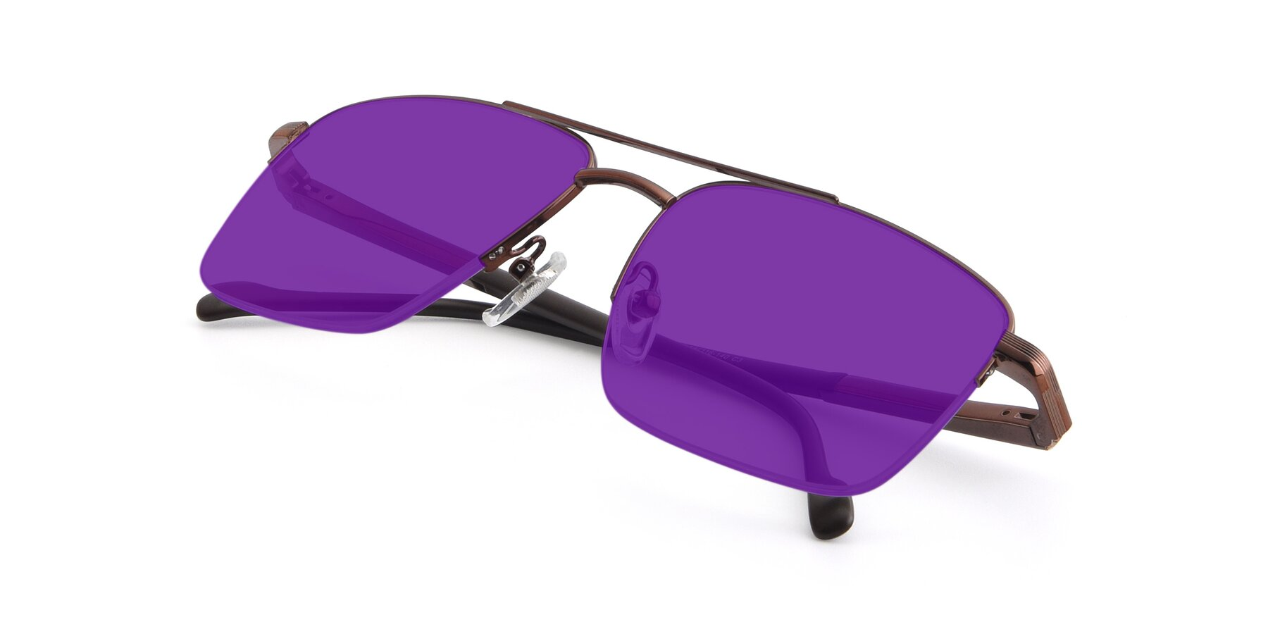 View of 19013 in Bronze with Purple Tinted Lenses